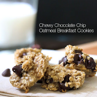 Chewy Chocolate Chip Oatmeal Breakfast Cookie.
