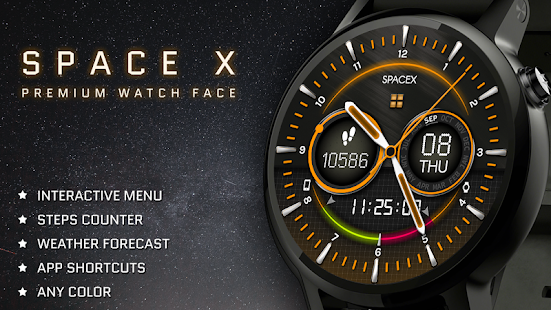 Space-X Watch Face Interactive Screenshot