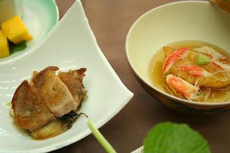 Photo: 鉢肴(もち豚ステーキ)・温物(蕪揚げ出し)