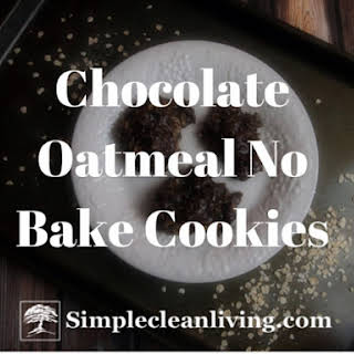 Chocolate Oatmeal No Bake Cookies.