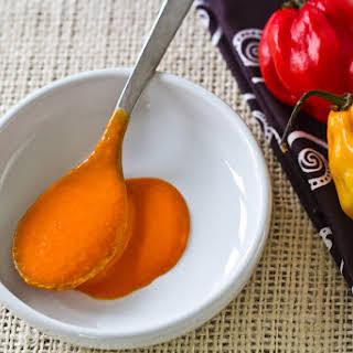 Black Bean Soup With Hot Roast Pepper Cream for #SundaySupper.