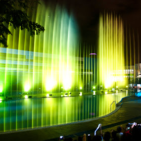 Dancing Lights by Mert Docdor - Buildings & Architecture Other Exteriors ( water, lights, reflection, colors, philippines )