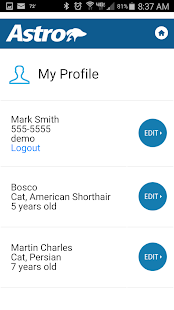 Astro Loyalty Pet Owner App- screenshot thumbnail