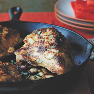 Lemon-Oregano Roasted Chicken With Broiled Feta