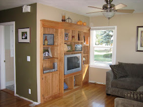 Photo: Built-in entertainment center for a friend.