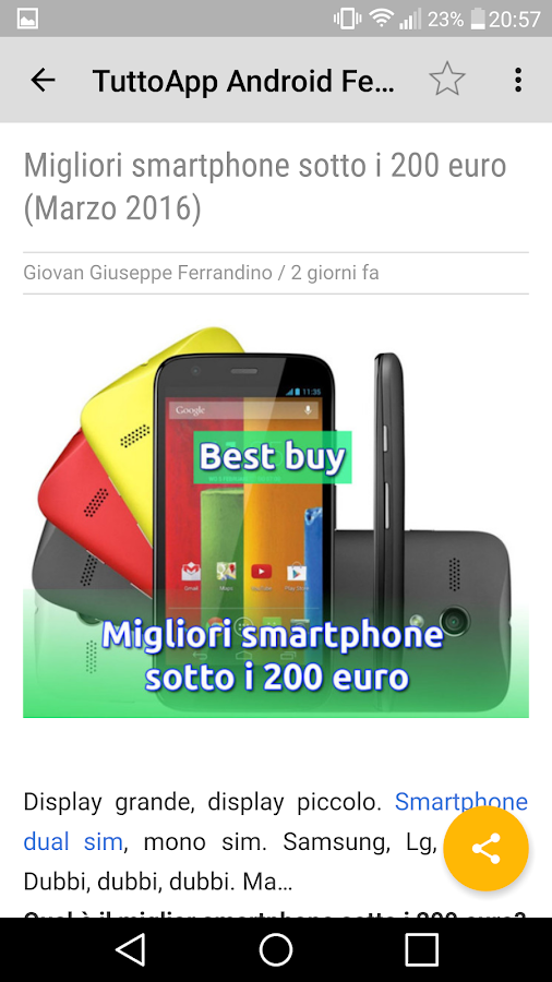 Tutto App Android - Notizie- screenshot