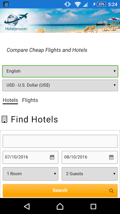 Hotelsmoon Hotels & Flights- screenshot