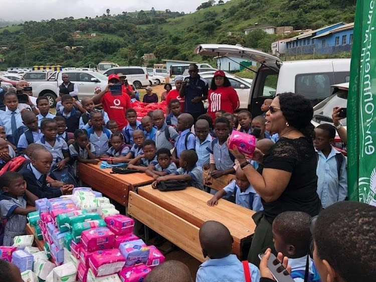 Minister Nomvula Mokonyane's distribution of sanitary pads was a noble gesture, says the writer, noting that many girls from poor families miss school because their parents cannot afford to buy pads.
