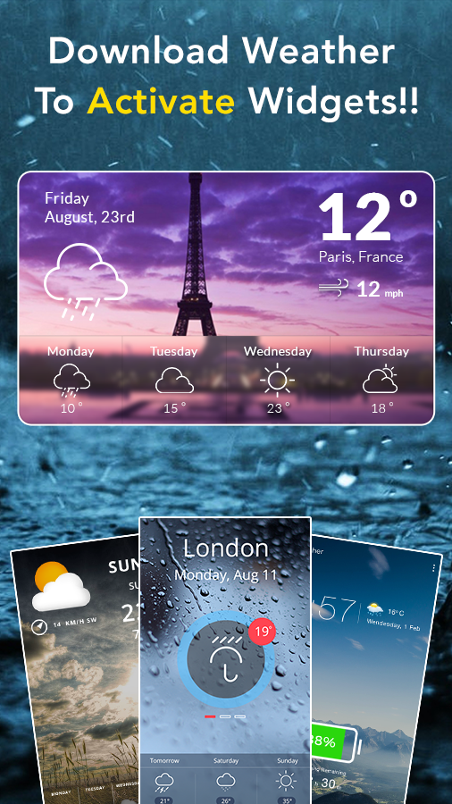 Скриншот Weather Tracker