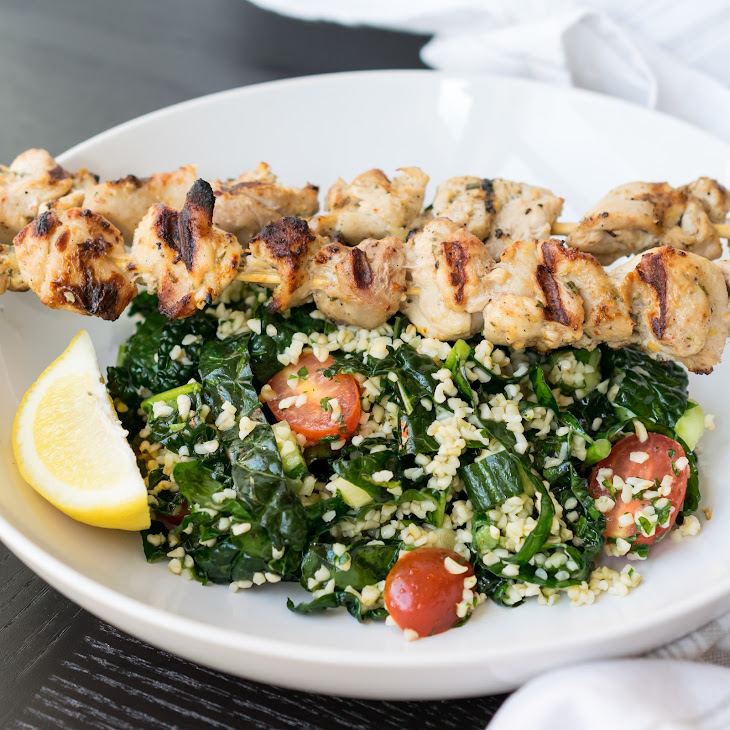 Yogurt Marinated Grilled Chicken and Kale Tabbouleh Recipe | Yummly