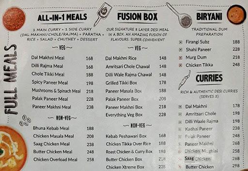 BOX8 - Desi Meals menu 2