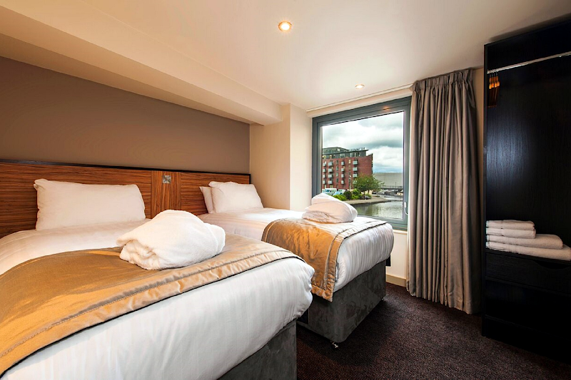 Luxury bedroom at La Reserve Aparthotel Manchester