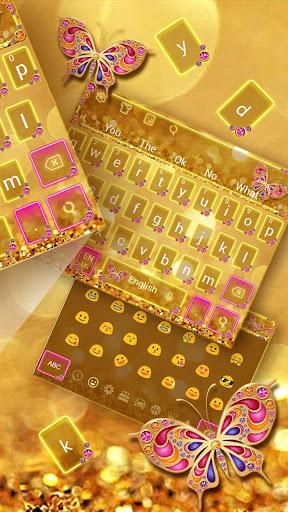 Golden Butterfly Keyboard Theme 10001001 screenshots 7