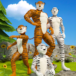 Virtual Tiger Happy Family Game: Mom Dad Simulator Icon