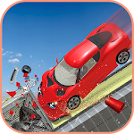 Sports Car Highway Crash Race Icon