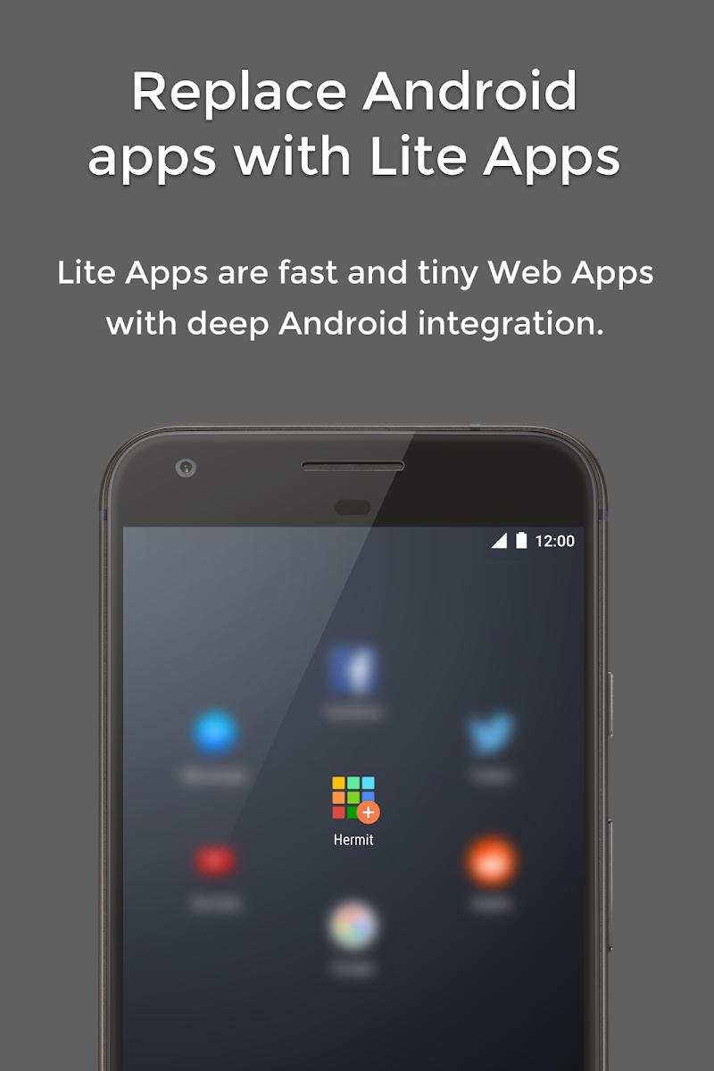 Hermit • Lite Apps Browser Screenshot