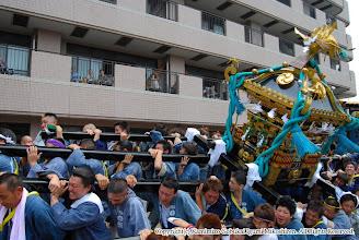 Photo: 【平成19年(2007) 本宮】 コスモスセンター慰問。激しく神輿もみを披露。