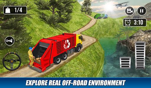 Offroad Garbage Truck: Dump Truck Driving Games apktram screenshots 6