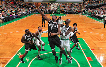Photo: BOSTON, MA - OCTOBER 16:  C.J. Watson #0 of the Brooklyn Nets shoots the ball against Kevin Garnett #5 of the Boston Celtics on October 16, 2012 at the TD Garden in Boston, Massachusetts. NOTE TO USER: User expressly acknowledges and agrees that, by downloading and or using this photograph, User is consenting to the terms and conditions of the Getty Images License Agreement. Mandatory Copyright Notice: Copyright 2012 NBAE  (Photo by Brian Babineau/NBAE via Getty Images)
