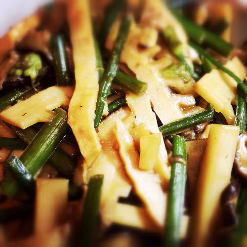 bamboo, mushroom, stir fry, stirfry, chinese, recipe, hangzhou, 冬筍炒冬菇, 冬筍炒冬菇, vegetarian, vegetable
