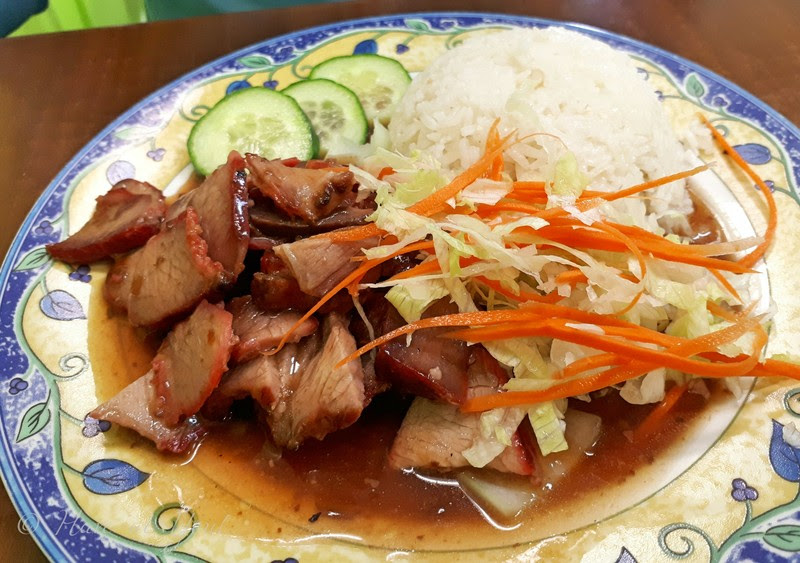 BBQ Pork with rice from Satay Palace