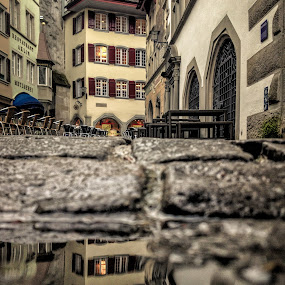 Grounded by Jessica Meckmann - Instagram & Mobile iPhone ( reflection, zug, puddle, town, iphone, city )