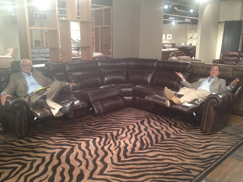 Photo: The President of the company test driving this sectional, I think it's comfortable!