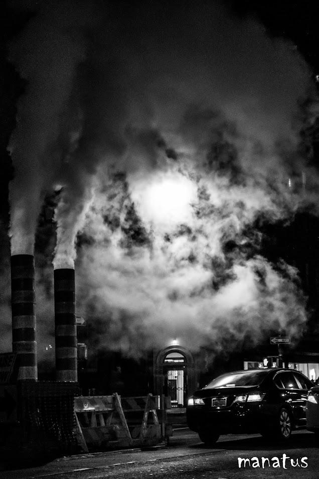 humo nocturno en nueva york