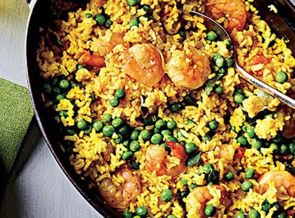Shrimp With Lemon-saffron Rice Recipe