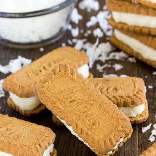 Coconut Cream Filled Biscoff Cookies.