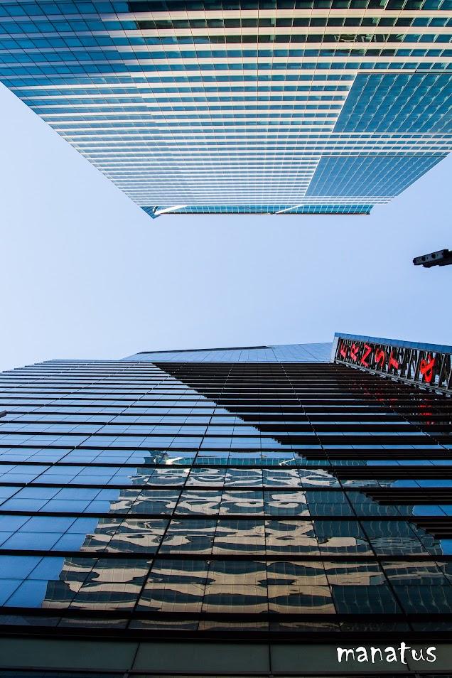 rascacielos desde abajo