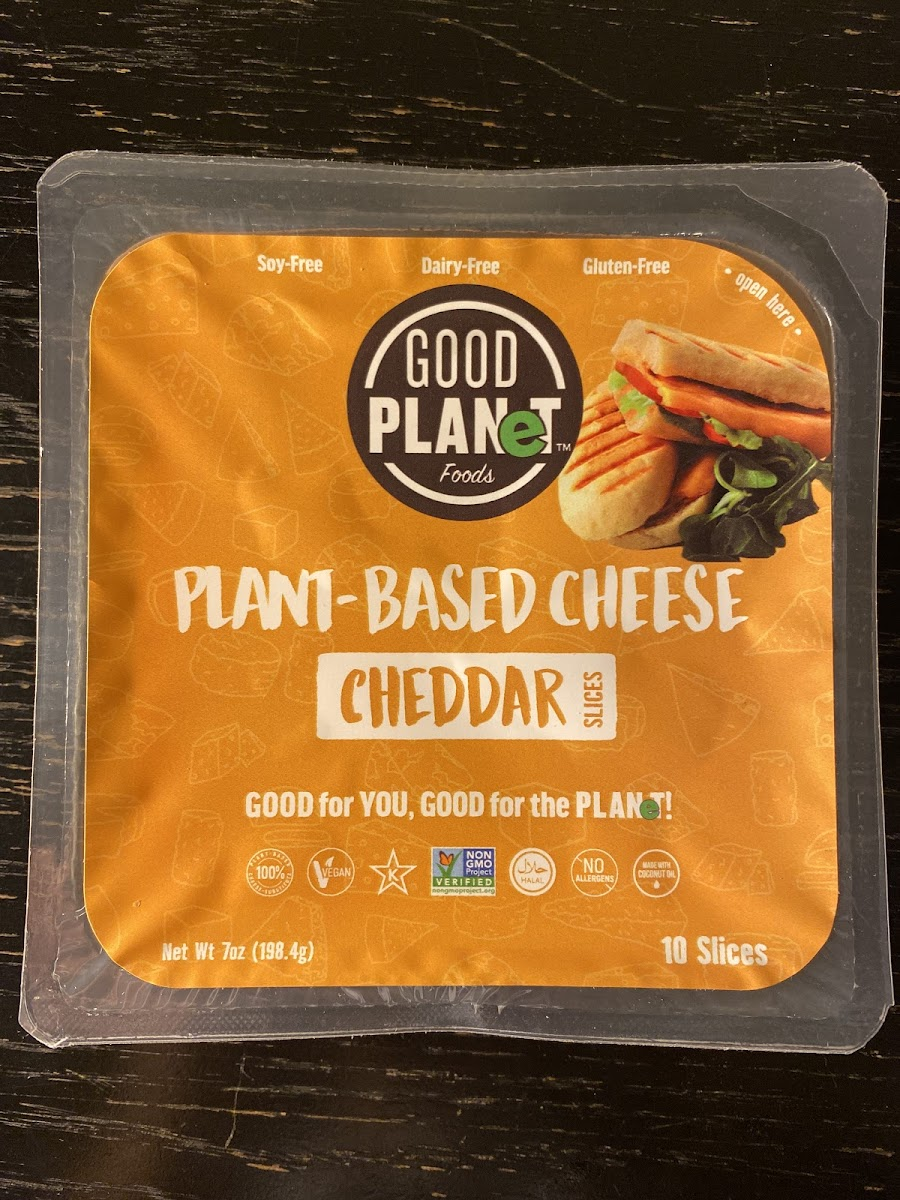 Plant Based Cheddar Cheese Slices
