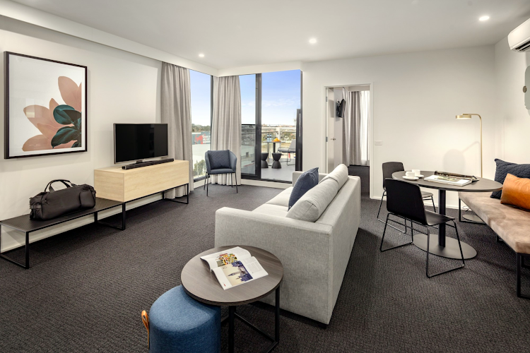 Spacious living area at Quest Maribyrnong