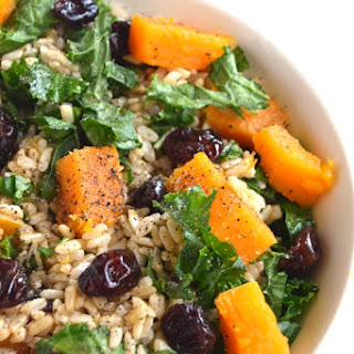 Butternut Squash, Kale and Cranberry Rice
