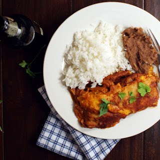 Roasted Red Pepper and Cheese Enchiladas