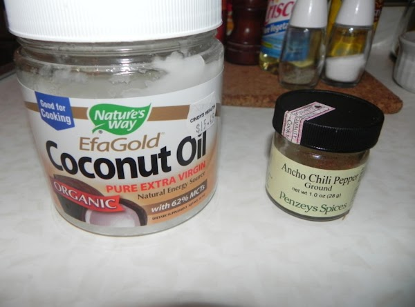 Here is a pic of the Coconut Oil and Ancho Chili Pepper