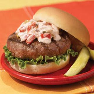 Lipton Onion Burgers With Creamy Salsa.