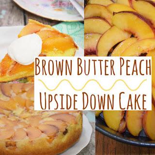 Brown Butter Peach Upside Down Cake.