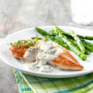 Turkey with Creamy Morel Sauce.