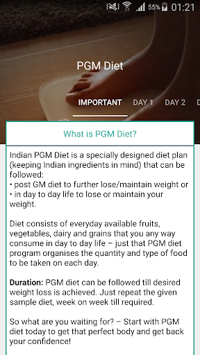 Weight Loss Diet Plan (Post GM Diet) - Indian screenshot 1