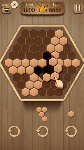 Wooden Hexagon Fit: Hexa Block Puzzle 1.0.1 screenshots 5