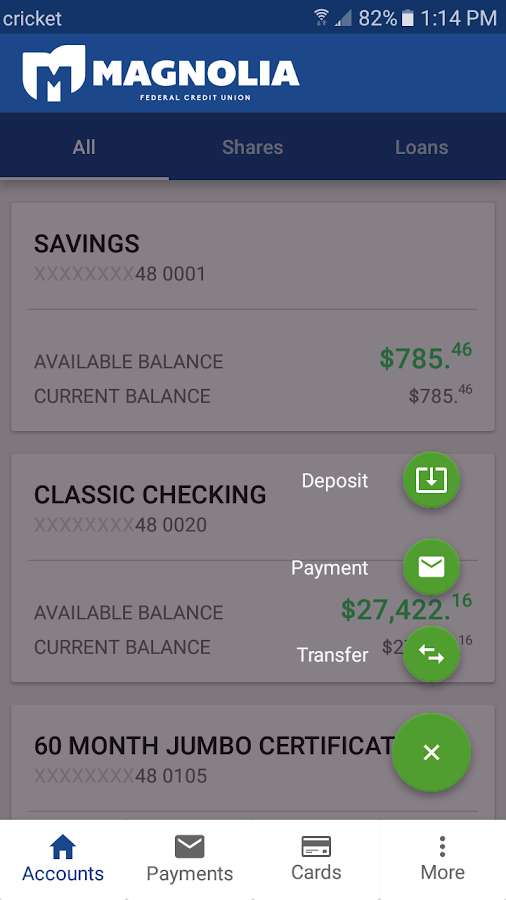 Magnolia FCU- screenshot