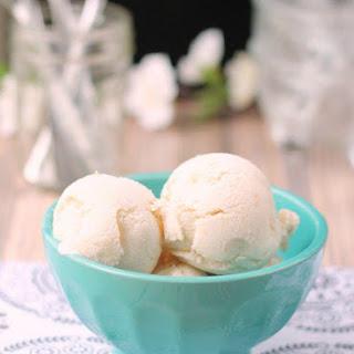 Vanilla Peach Ice Cream {Dairy Free} Recipe