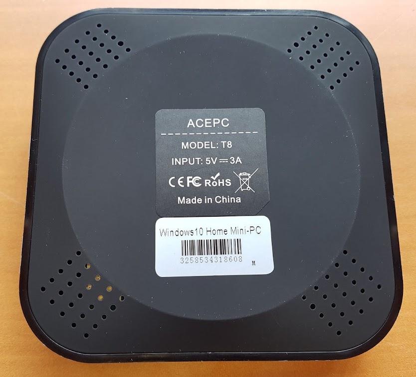 REVIEW] ACEPC T8  Mini PC Windows 10 - Intel Z8350 - Win10 Home