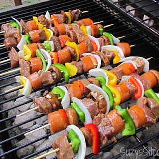 Teriyaki Orange Beef Shish Kebabs.