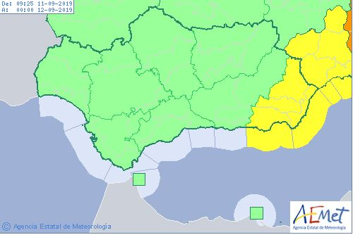 Toda la provincia está en alerta amarilla hoy miércoles.