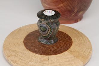 "Photo: Bob Grudburg 6"" x 4"" Beads of Courage box [cedar, maple, colored laminate, bead]"