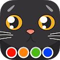 Coloring Book - Cats icon
