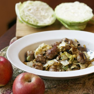 Sautéed Cabbage Apples & Sausage