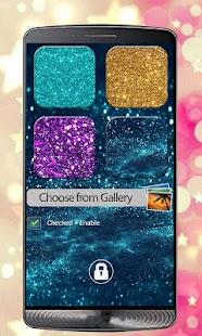 Glitter Zipper Screen Lock - náhled